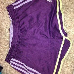 Purple Adidas Climate Shorts